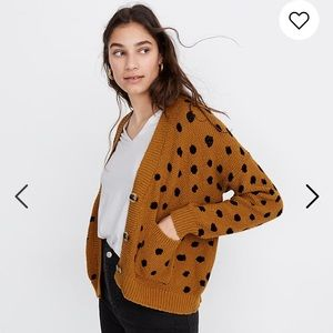 Madewell Sweaters - Madewell Hillview Cardigan Sweater Painted Spots